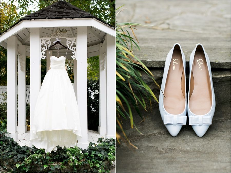 www.amynicolephoto.com/blog - southern, wedding, details, shoes, gown, garden, nashville, frankling, tennessee, fall
