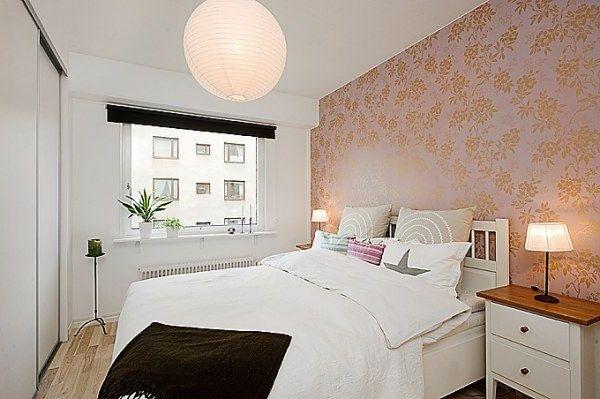 Schlafzimmer Gestalten Im Skandinavischen Stil Interessante Tapetten Mit