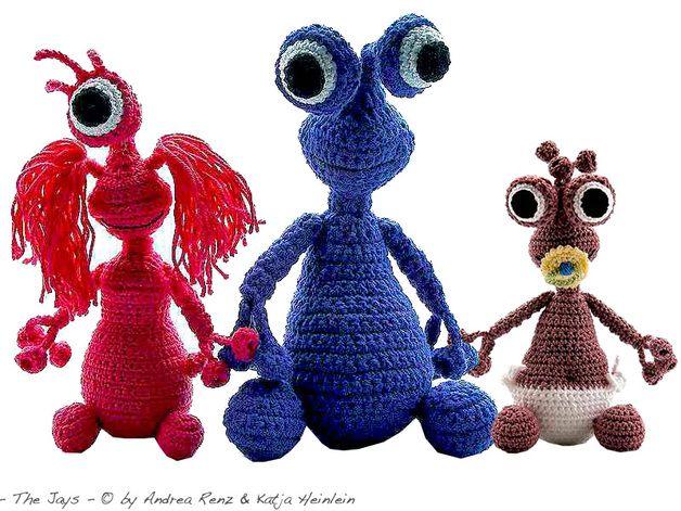 Familie Jay 3 Figuren In Einer Anleitung Enthaltene Maschenarten
