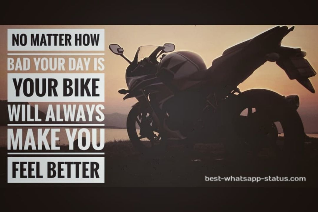 {100+} Best Quotes for Bike Lovers (Cool) Whatsapp