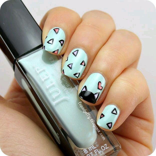 Cat #Love | Kitty nails | Pinterest