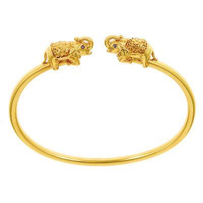 Bangle Bracelet Genuine Real 18k Yellow G//F Gold Ladies Black Onyx Cuff Design