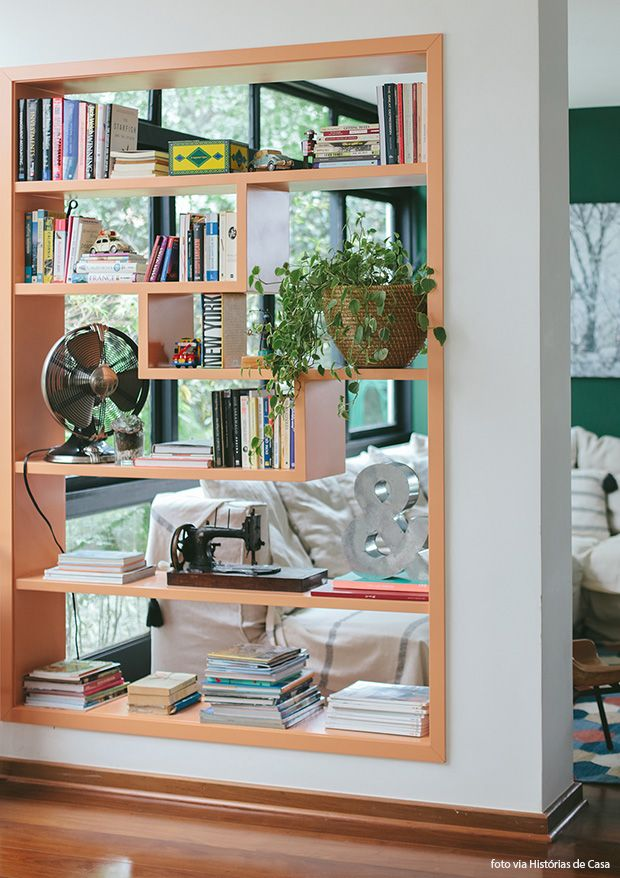 See Through Bookcase That Divides A Space Or Opens Up A Space Take
