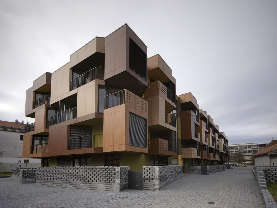 Small Apartment Building Designs Style Tetris Apartments  Ofis Arhitekti  Slovenia Apartments And Building