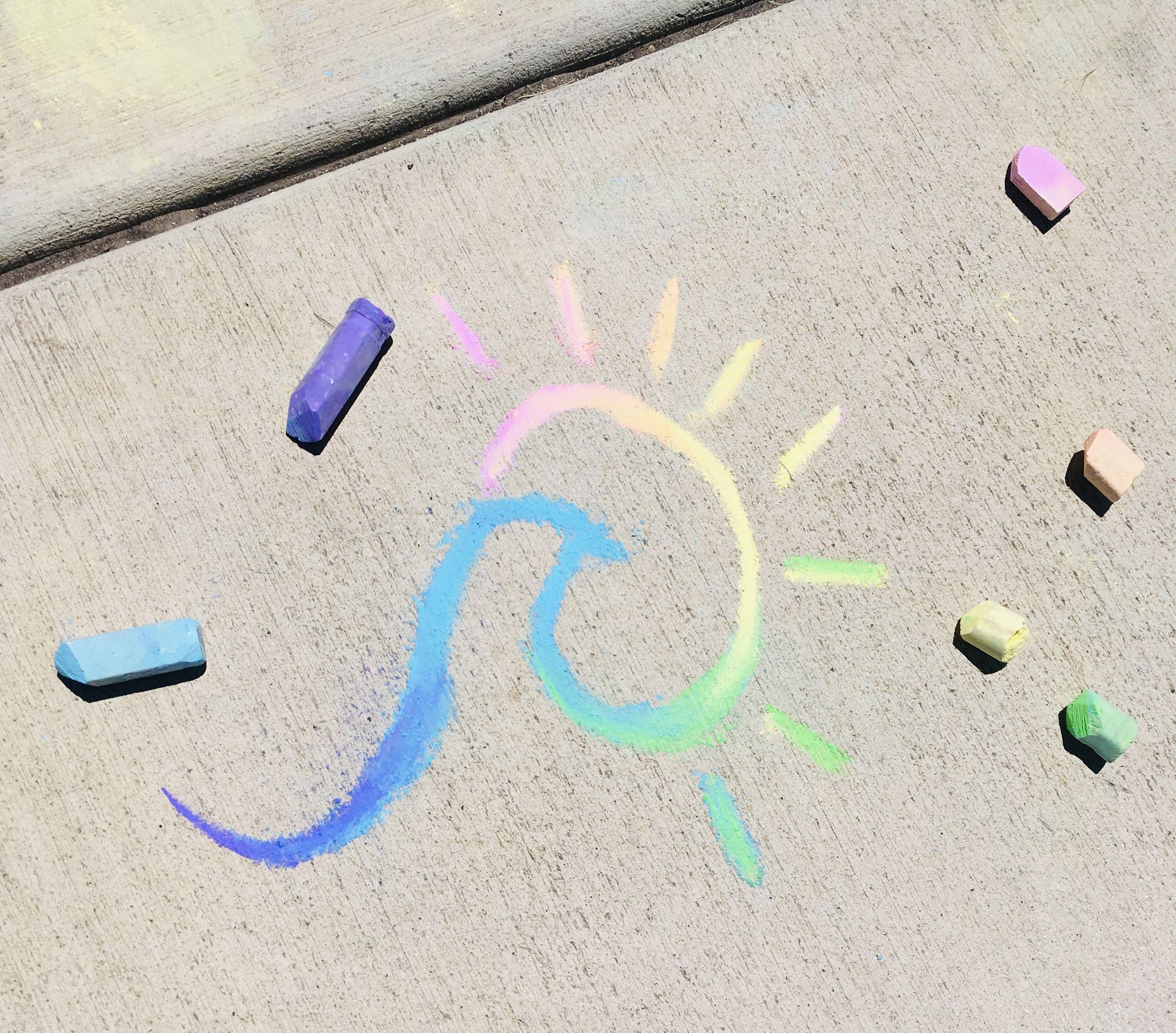 Pin By Kinz On Vsco Sidewalk Chalk Art Sidewalk Art