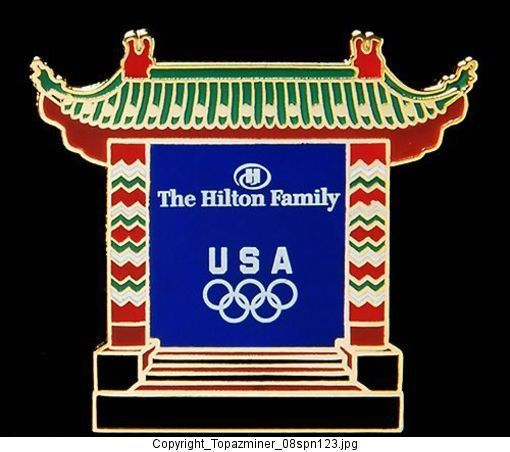Sponsor Matchroom Boxing Usa: Olympic Pins Beijing 2008 Hilton Sponsor Team USA NOC