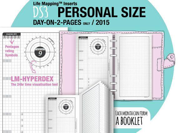 2015 LM-Hyperdex DO2P Personal size day-on-2-page by DIYfish - jos päivittäiset sivut ottaa, tämä voisi olla hyvä. Kuukausisivuhan voi olla toisesta sarjasta?