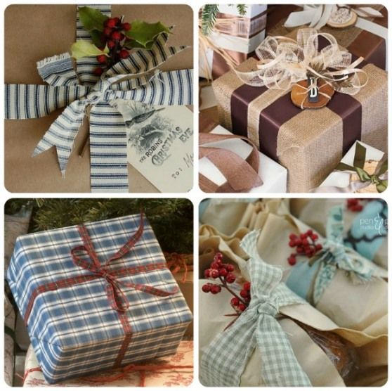 Christmas gift wrapping collage 1 dyi Holidays Pinterest