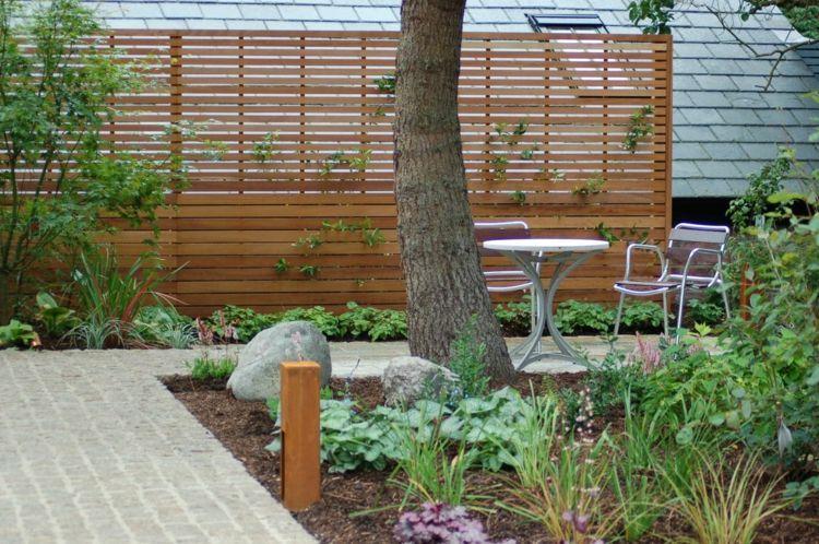 Cool Gartenzaun aus Holz selber bauen und die Terrasse abschirmen  TW52