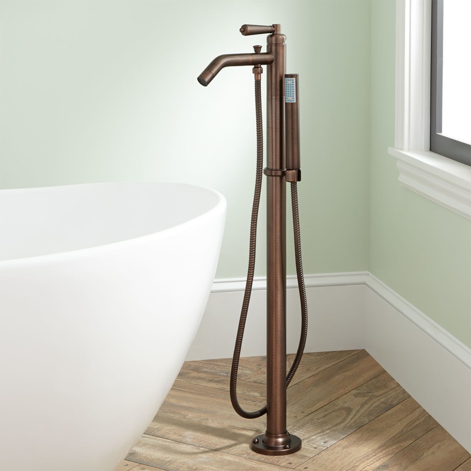 Napier Freestanding Tub Faucet And Hand Shower In Oil Rubbed