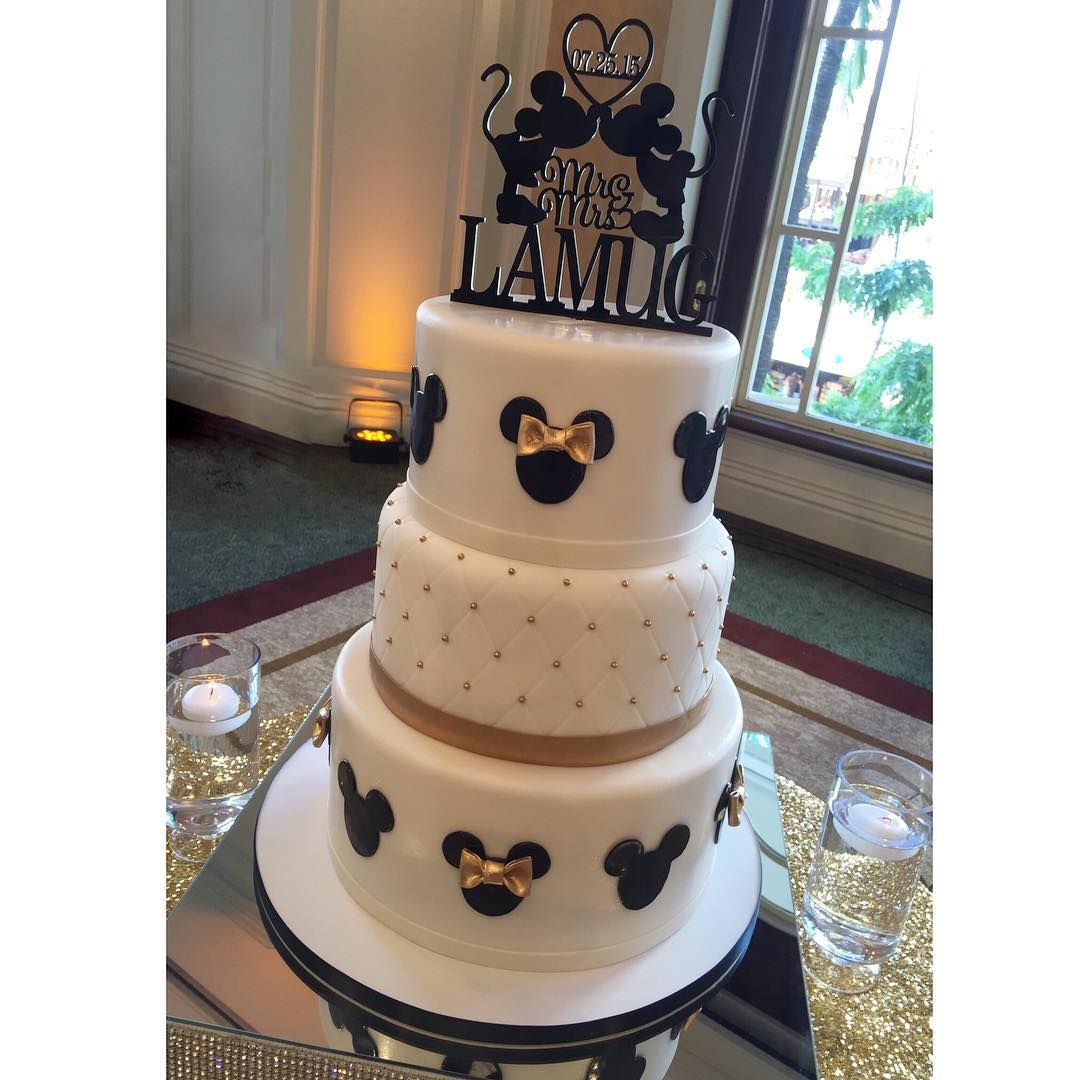 Mickey Minnie Mouse Wedding Cake Disney Wedding Cake