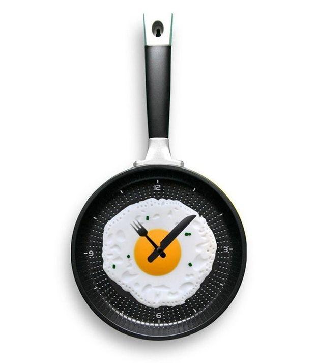 Fried Egg Wall Clock, $26 | 35 Clocks That Look Amazingly Not Like Clocks
