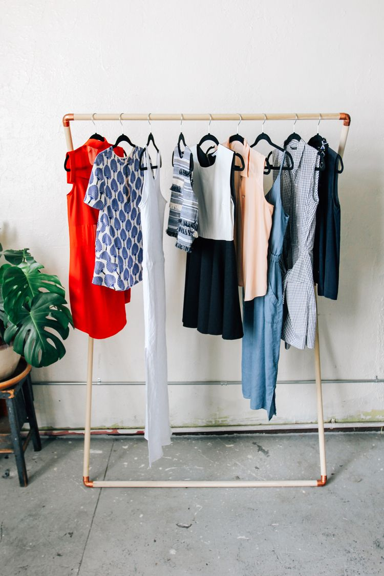 leaning garment rack diy i could make that garment