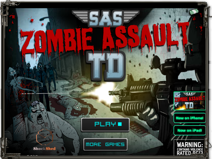 Sas Zombie Assault Tower Defense Another Great Game From Sas Series By Ninja Kiwi Now In Tower Defense Style Zombie Assault Tower Defense Defense Games