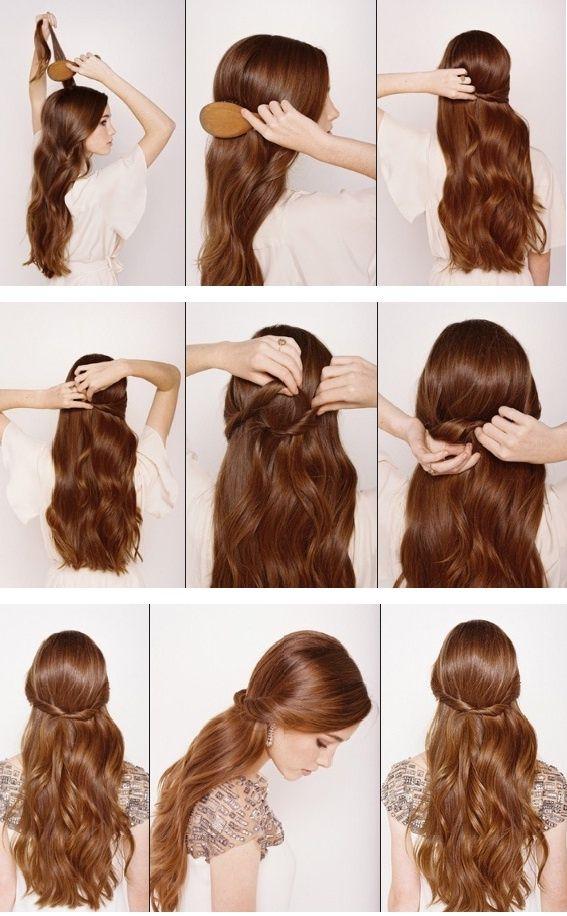 Half Up Down Hair Tutorial Simple And Elegant Hairstyle Repin By Ellesilk