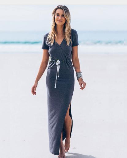 Ankle Length Dress Navy