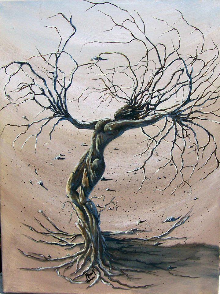 Tree Woman Art : woman, Woman, Nature, Drawings,