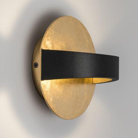 wandleuchte grip schwarz gold sch ne kompaktes design aus aluminium sorgt f r ein angenehmes. Black Bedroom Furniture Sets. Home Design Ideas