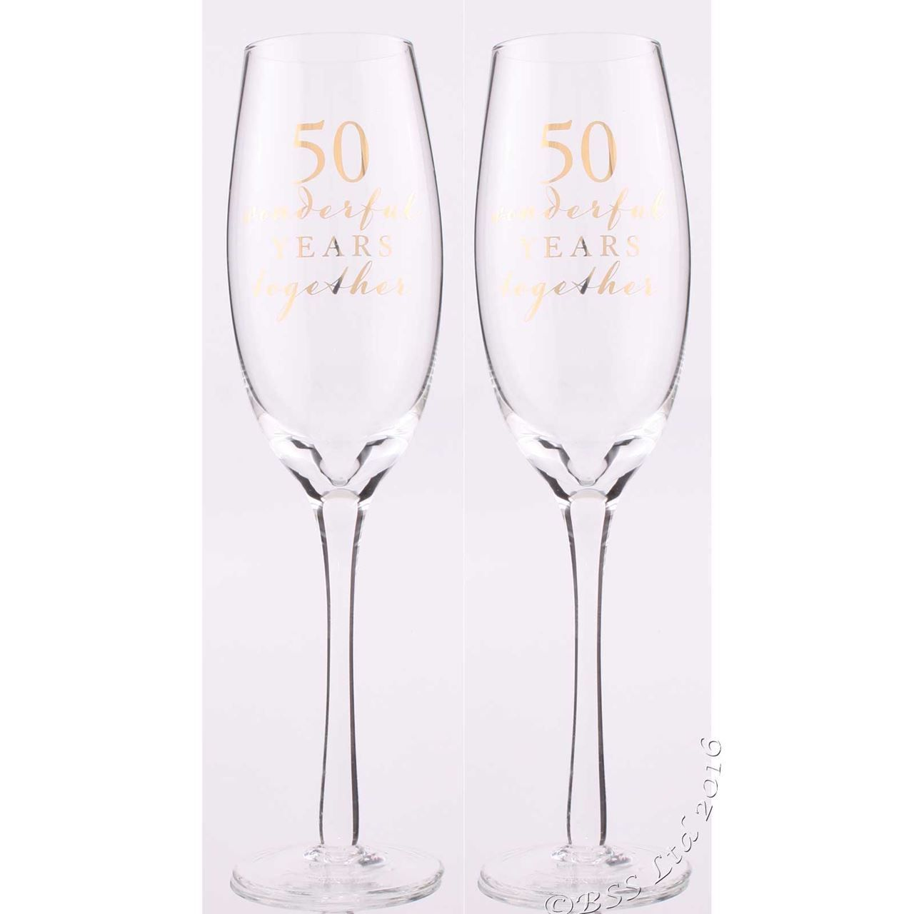 50th Anniversary Champagne Flutes | Champagne flutes, Flutes and ...
