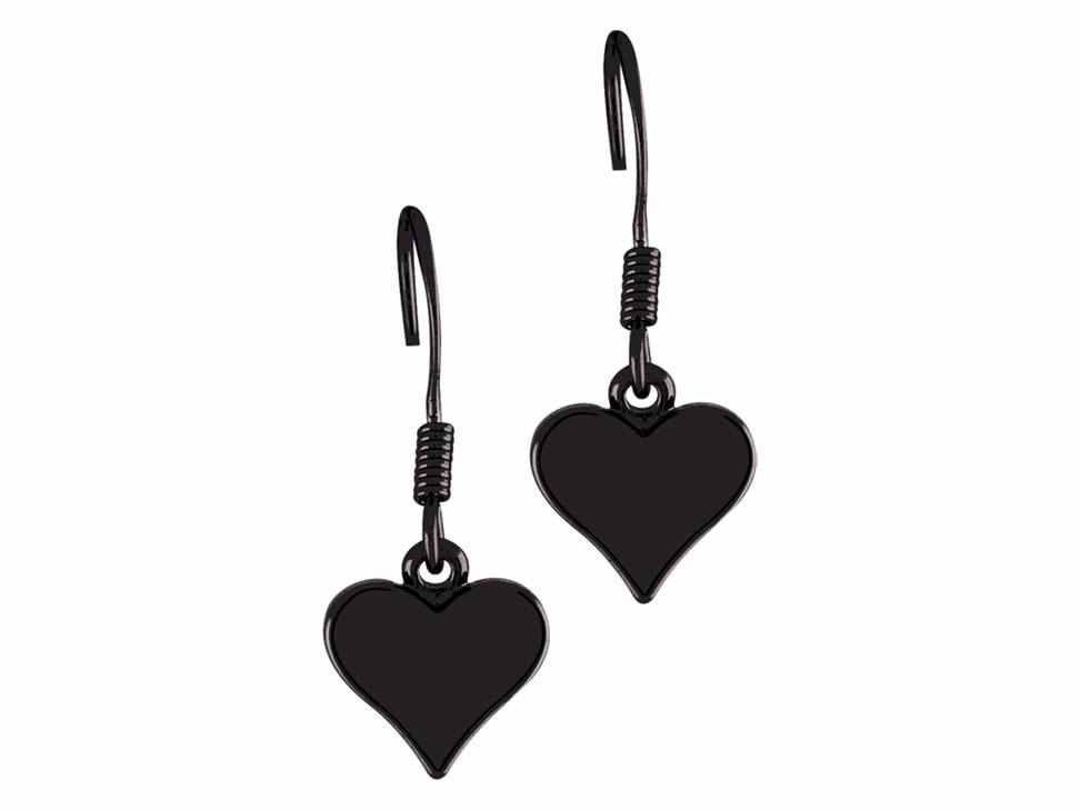 Aretes de Corazón Steve Madden en Acabado Negro Mate-Liverpool es parte de MI vida
