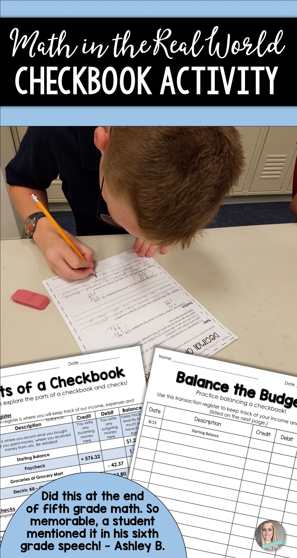 This real world checkbook lesson is a great way to introduce students to  writing checks and balancing checkbook…   Real life math [ 2249 x 1199 Pixel ]