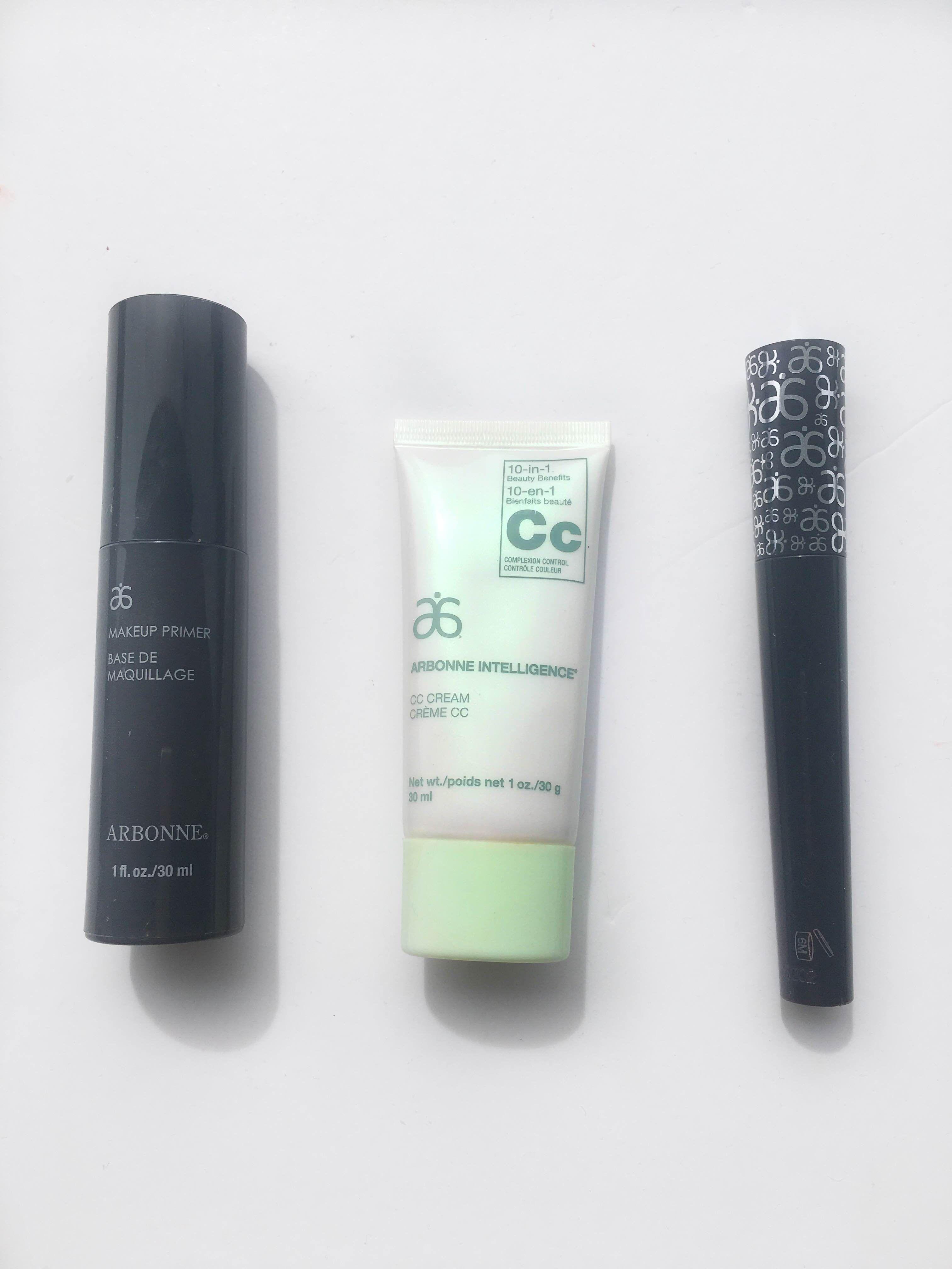 Arbonne Face Primer, CC Cream & Mascara Review Arbonne