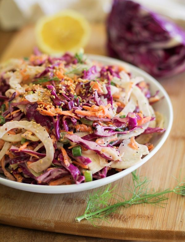 Fennel And Cabbage Slaw