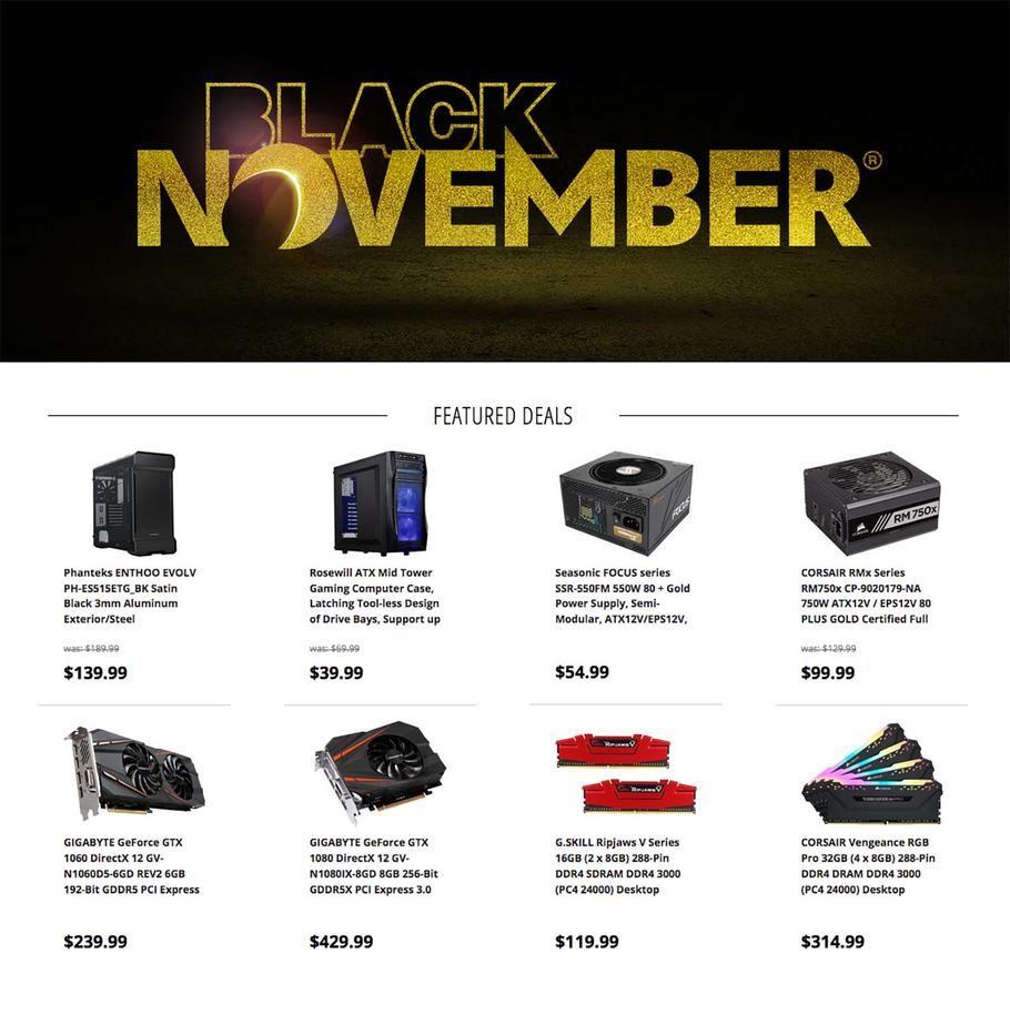 Newegg Black November 2018 Ads Scan Deals And Sales See The Newegg Black November Ad 2018 At 101blackfriday Com Find The Best 2018 Newegg Blac Ads Black Sale