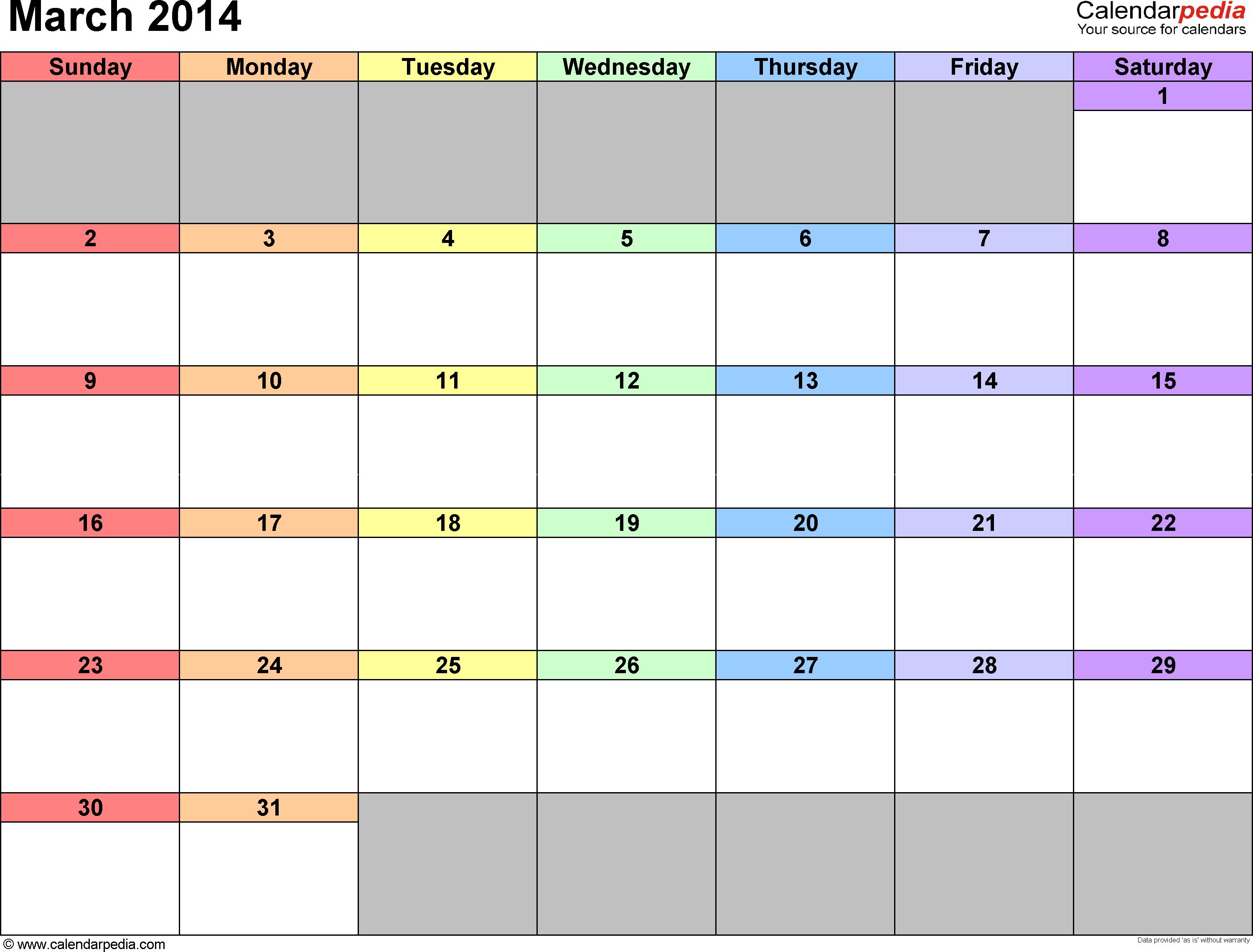 31 day portrait calendar