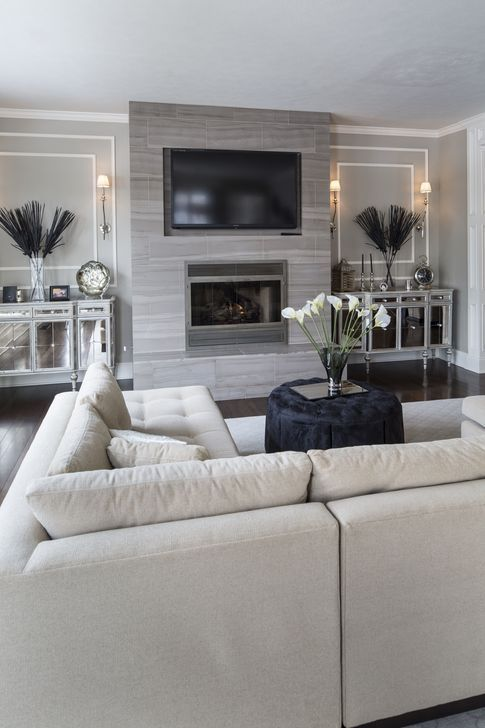 99 Comfy Living Room Decoration Ideas With Fireplace - – Chiminea fireplaces are wonderful additions for your living room spaces. Mostly, they are made - #comfy #decoration #fireplace #ideas #living #LivingRoomDesigns #ModernHouseDesign #ModernInteriorDesign #Room