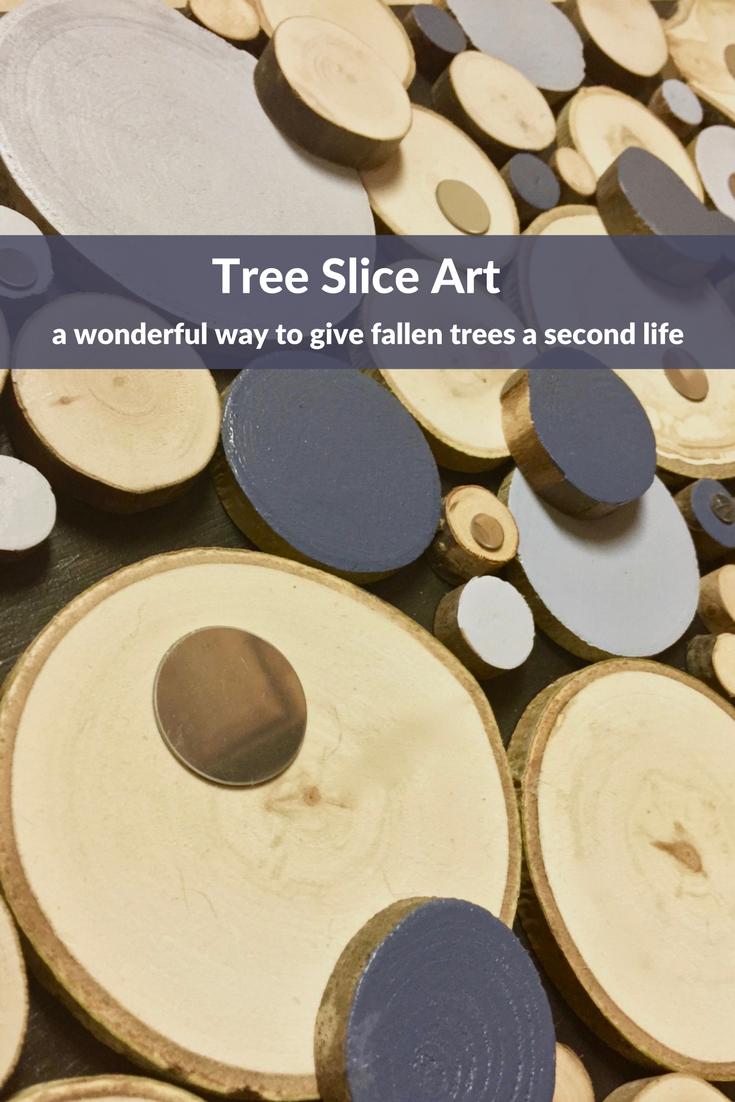 Tree slice art, Wood slice art, Wood wall art, Wood slice wall art ...