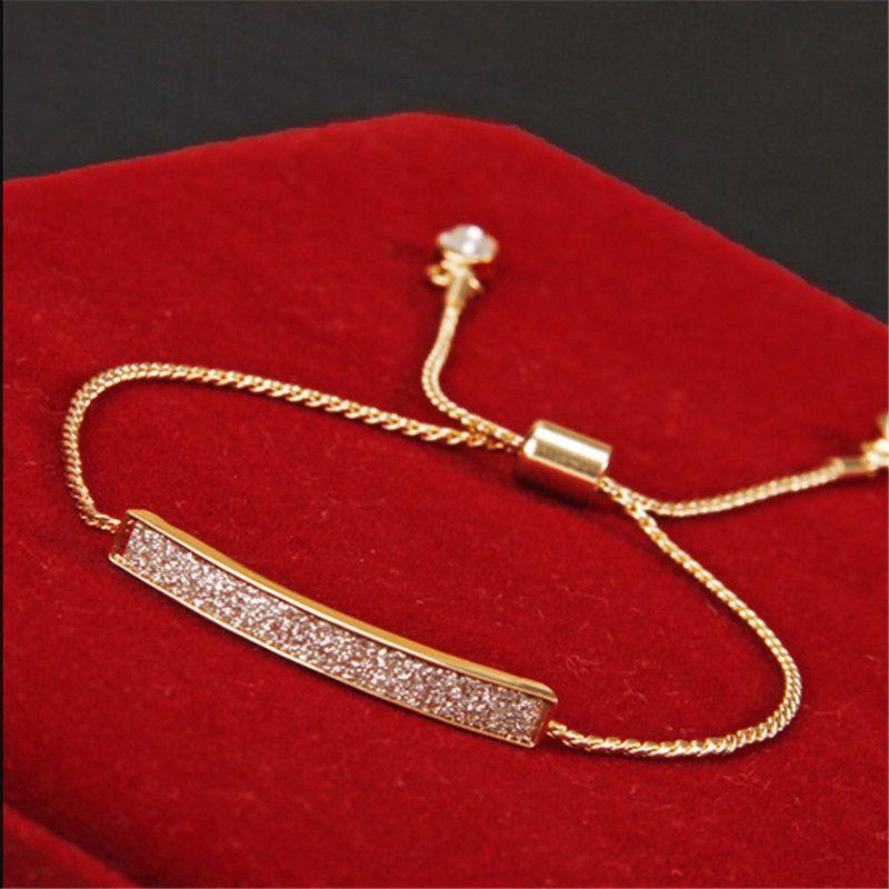 독특한 cz 다이아몬드 micro pave 패션 팔찌 & 팔찌 골드 도금 크리스탈 보석 sl-177
