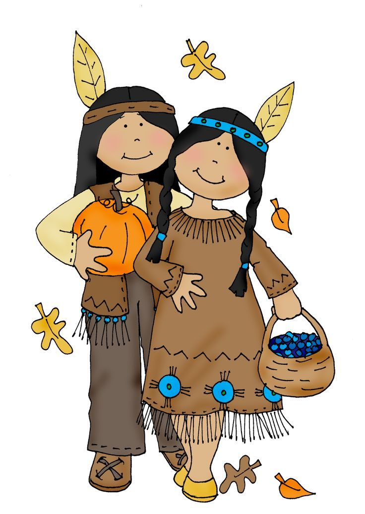 thanksgiving indian boy and girl clipart clip art holiday rh pinterest co uk Horn of Plenty Clip Art pilgrim and indian clipart free