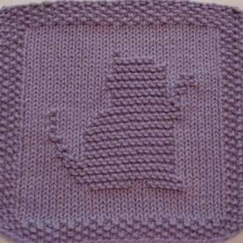 Free Downloadable Knit Dishcloth Patterns Kitty Playing Knit