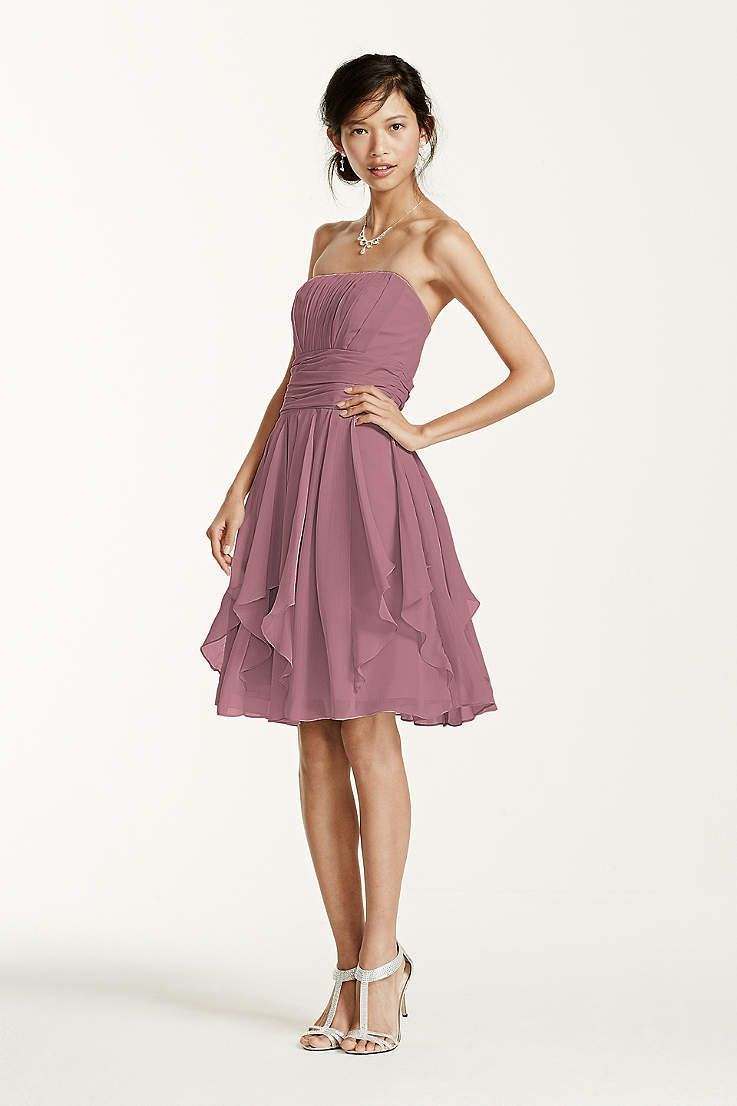 Find the perfect bridesmaid dresses at David's Bridal. Our bridesmaid dresses include all styles & colors, such as purple, gold, red & lace. Shop now!