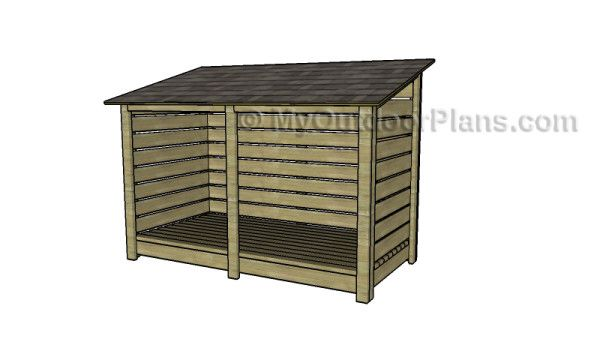 Firewood Storage Shed Plans For One Cord Of Wood Would Modify The