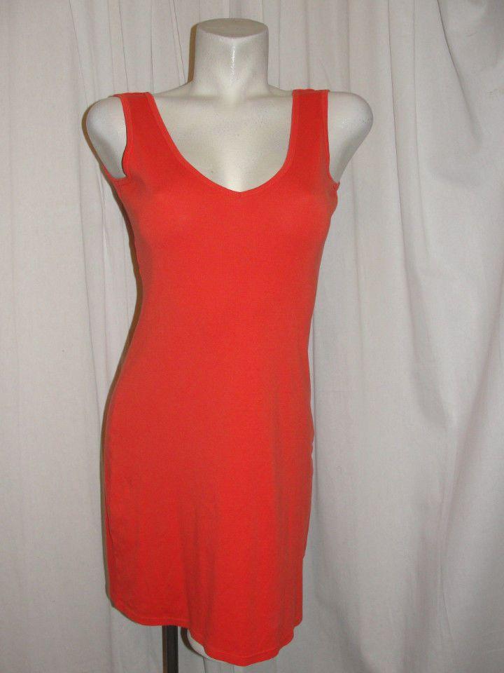 0b41529e204 Victoria s Secret BRA TOPS Orange V-neck   Back Sleeveless Tank Dress Size…