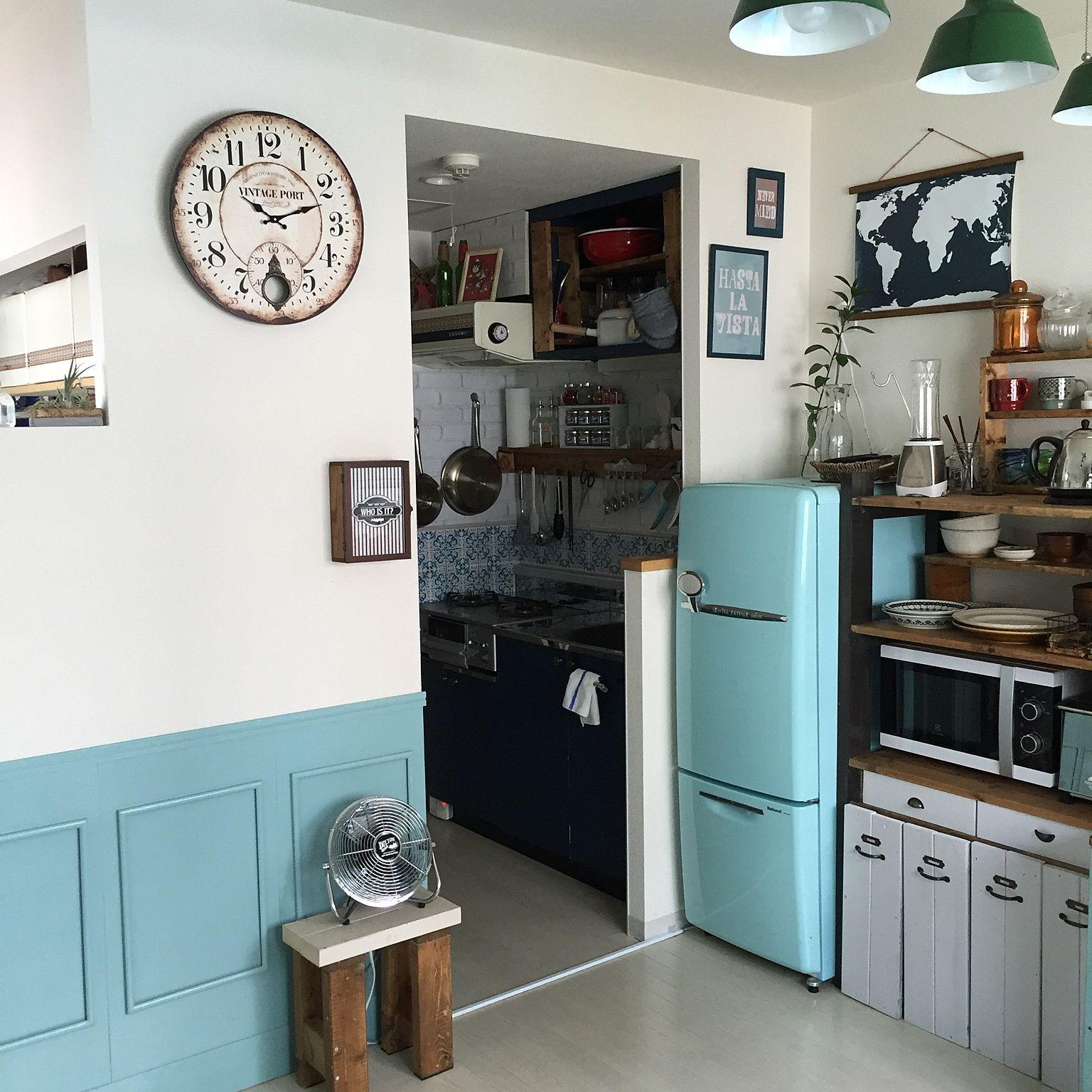 部屋全体 賃貸 外国のアパルトメント系 キッチンdiy 一人暮らし など