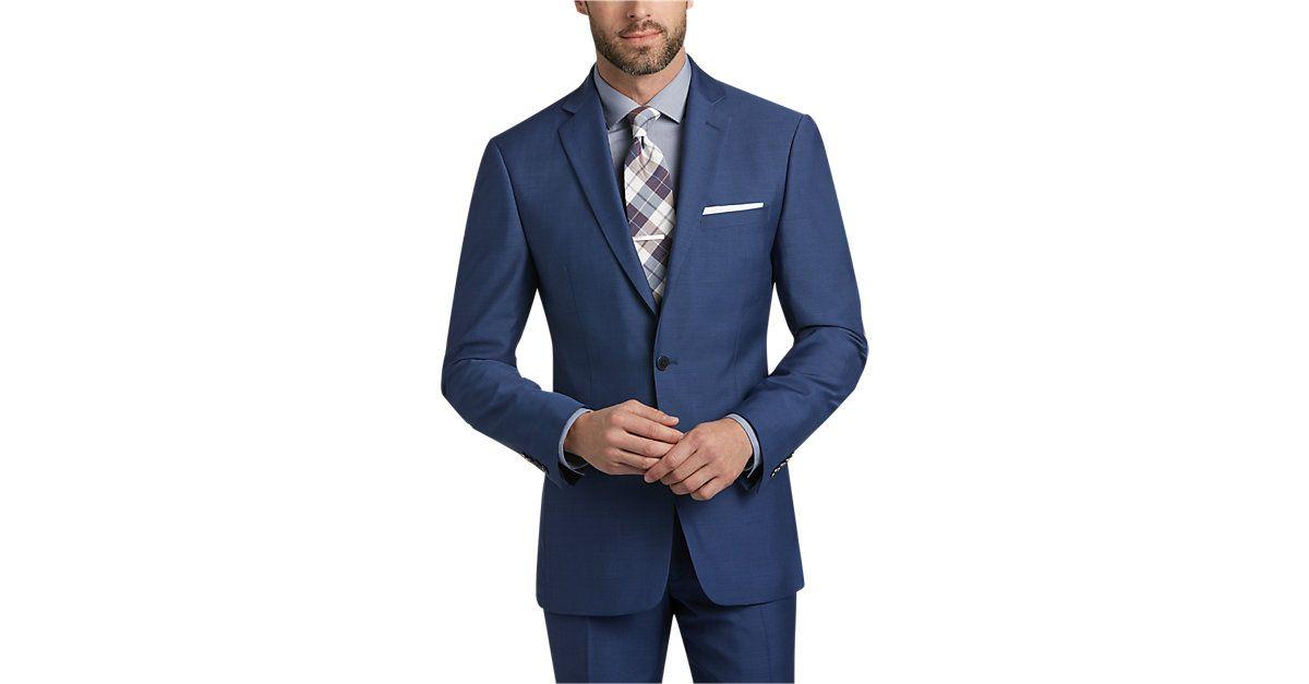 3d2fb211 Calvin Klein Blue Postman Extreme Slim Fit Suit - Men's Slim Fit from  MensWearhouse. #MensWearhouse