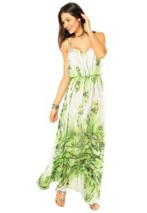Vestido Lança Perfume Folhagem Verde