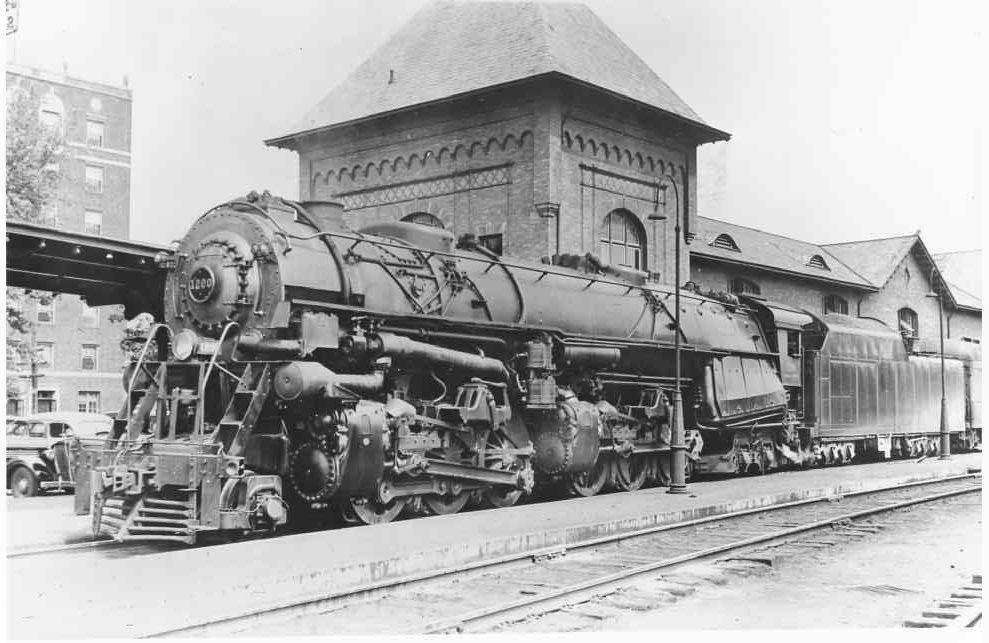 1936 Norfolk Western Railroad Engine 1200 Bristol VA