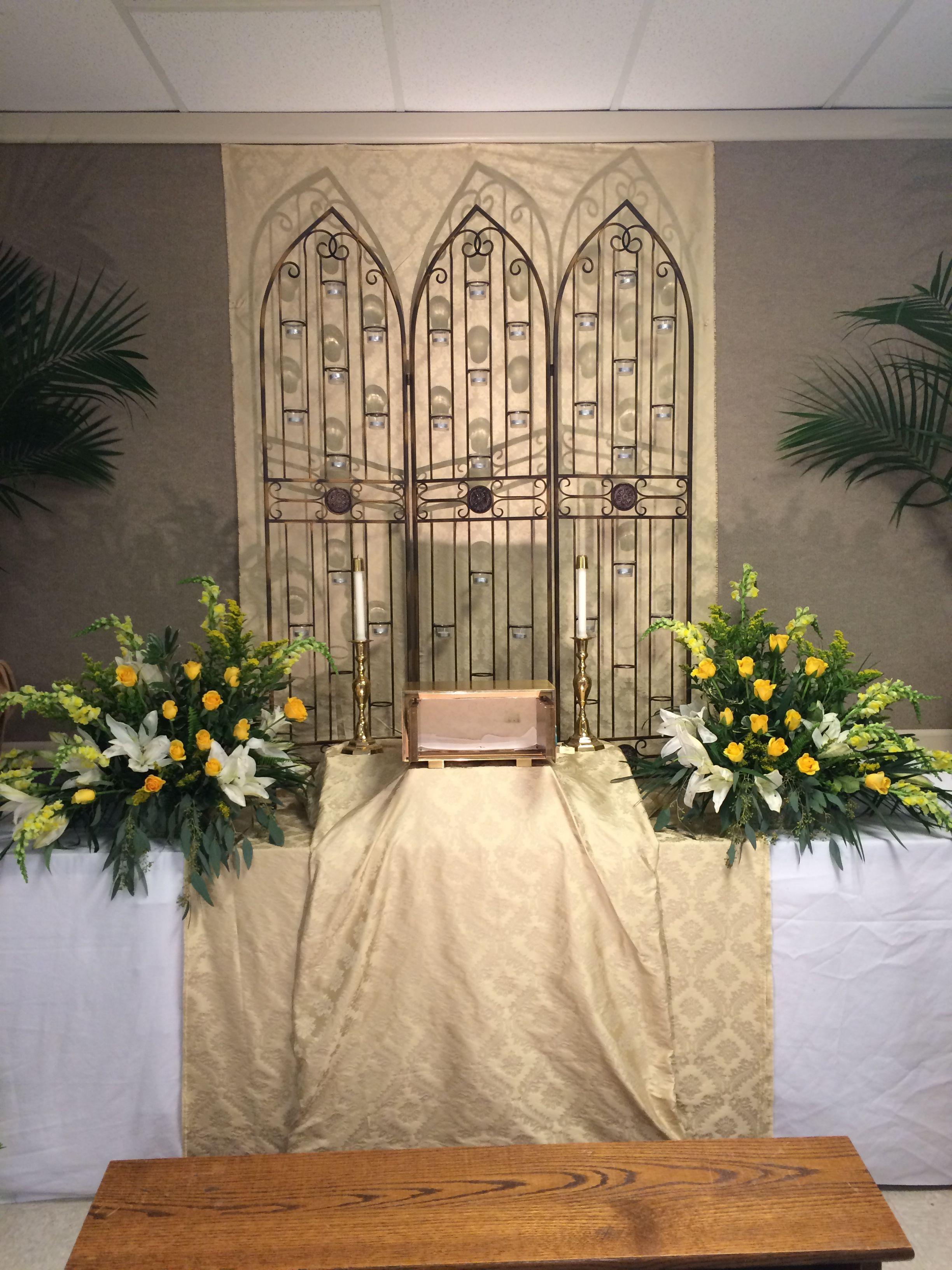 Altar of repose 2016 st joseph   Church decor, Decor, Altar