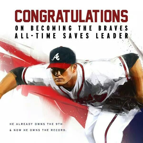 History Has Been Made Atlanta Braves All Time Saves Leader Craig Kimbrel Atlanta Braves Baseball Mlb Braves Braves Baseball