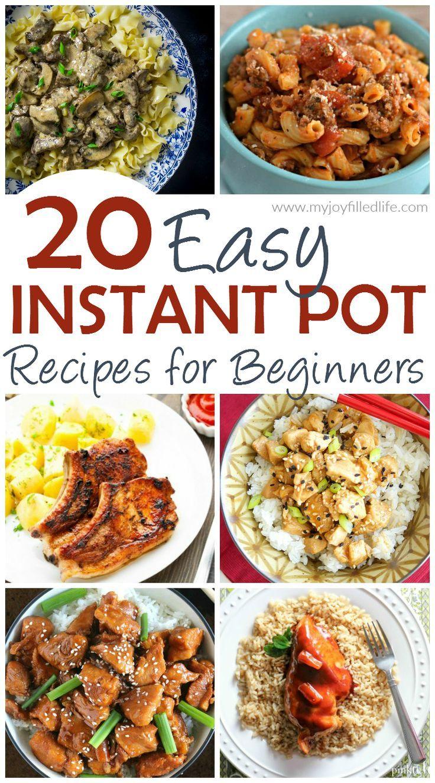 20 Easy Instant Pot Recipes For Beginners Instant Pot Dinner