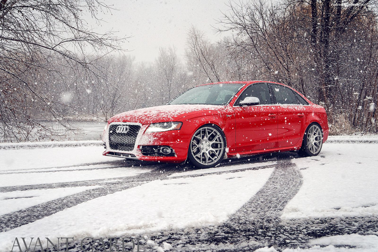 Audi Playing In The Snow Gyw Has Wheels And Tires Perfect For Snow Use Check Our Our Avant Garde Wheel Selection Online At Getyour Audi S4 Audi Audi Wheels