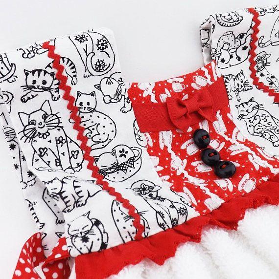 0a3521e3285d6 Crazy Cat Lady Kitchen Hand Towel, Oven Door Towel Dress ...