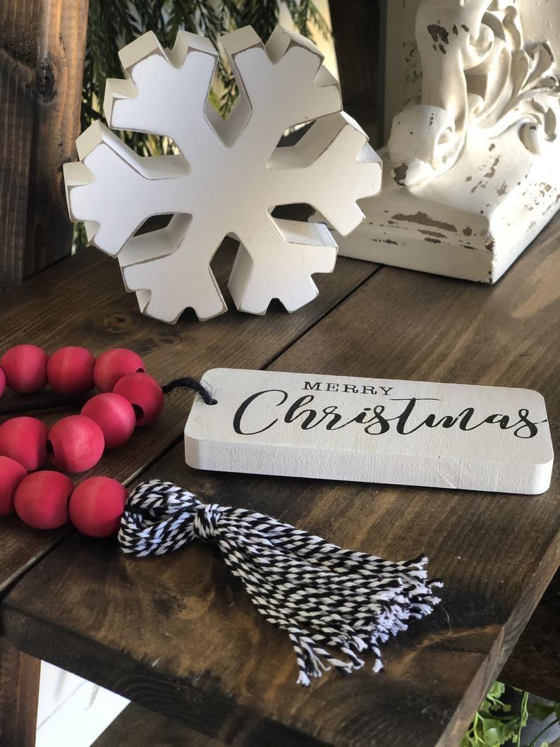 Merry Christmas Farmhouse Beads // Farmhouse Home Decor