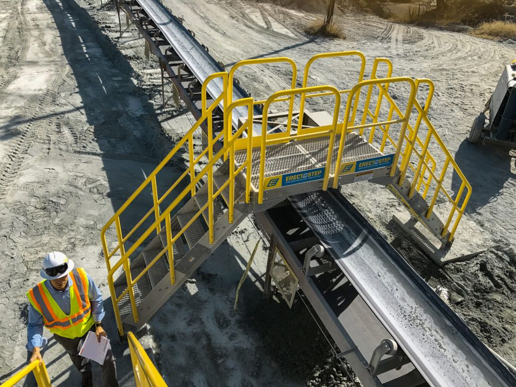 Erectastep Cement Conveyor Belt Crossover Stairs Metal Stairs Exterior Stairs Stairs