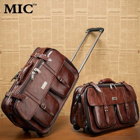 2b618f3008 20    inches leather Trolley Luggage