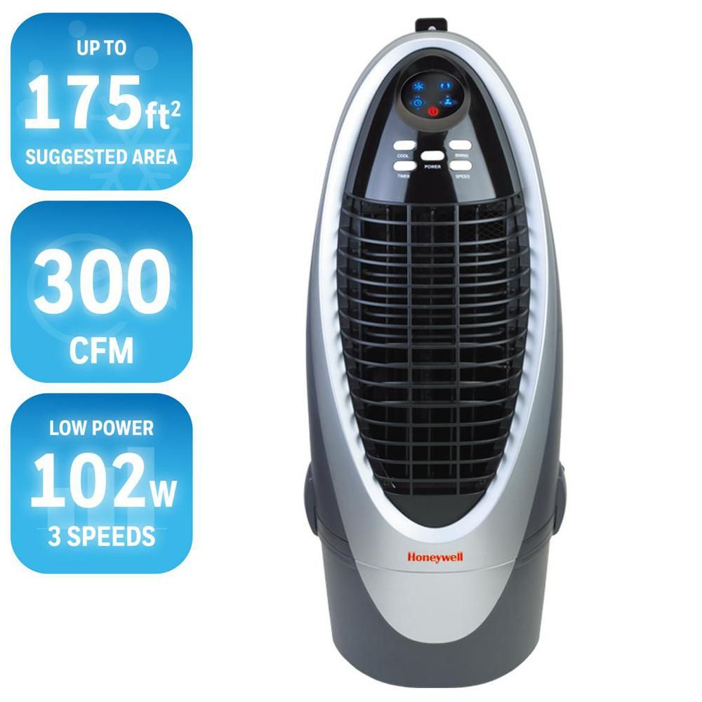 Honeywell 300 Cfm 4 Speed Indoor Portable Evaporative Air Cooler